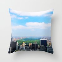 central park Throw Pillows featuring Central Park by NaturallyJess