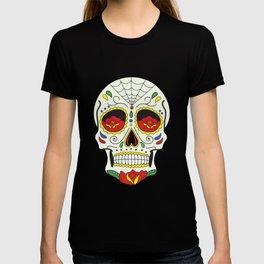 Sugar Skull Pattern T-shirt