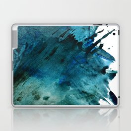 Scenic Route [2]: a pretty, minimal abstract piece in blue and green by Alyssa Hamilton Art Laptop & iPad Skin