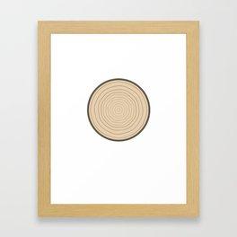 Wood Circle Framed Art Print