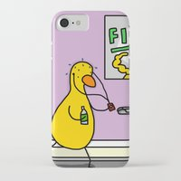 fitness iPhone & iPod Cases featuring Fitness Duck by Veronica Nagorny