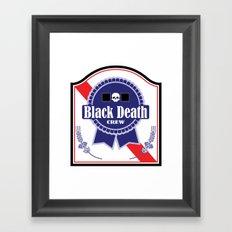 Black Death Ribbon (Color) Framed Art Print