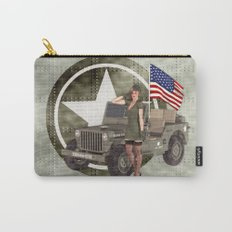 Army Blonde Pinup Carry-All Pouch