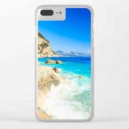 The beautiful Cala Goloritzè in Sardinia Clear iPhone Case