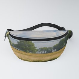 Landscape with a mowed grass Fanny Pack