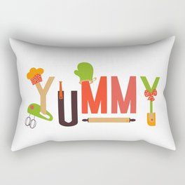 Yummy Art Print Set Kitchen Art Living Room Interior Design Printing for Wall Home Decor In Green Be Rectangular Pillow