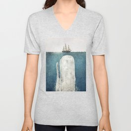 The White Whale Unisex V-Neck