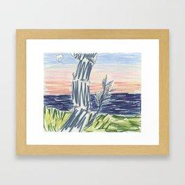 Drawing: Coal Coast V (2012) (Backyard View, Scarborough) Framed Art Print