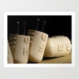 Electronic Adapter Macro Art Print