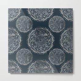 Mandala in the dark Metal Print