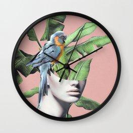 Tropical Girl  2 Wall Clock