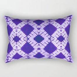 big checkered tie-dye Rectangular Pillow