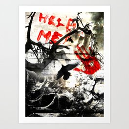 Help me Art Print