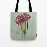 mushroom Tote Bags featuring Mushroom by Lime