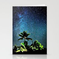 night sky Stationery Cards featuring NigHt SkY  by ''CVogiatzi.