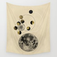 the moon Wall Tapestries featuring Moon by J Arell