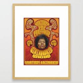 Jimi Hendrix Poster Framed Art Print