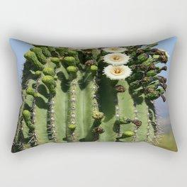 Beautiful Saguaro Blossoms Rectangular Pillow