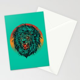 Zombie Lion Stationery Cards