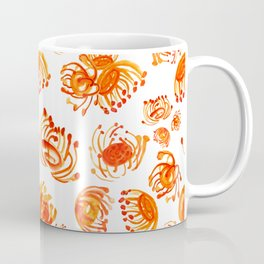 Watercolour Australian Native Flowers- Pincushions Coffee Mug