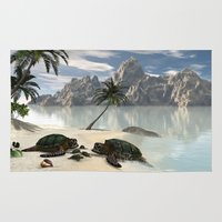 turtles Area & Throw Rugs featuring Turtles by nicky2342