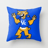 kentucky Throw Pillows featuring Kentucky by jublin