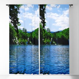 milanovacki slap at plitvice lakes national park croatia std Blackout Curtain