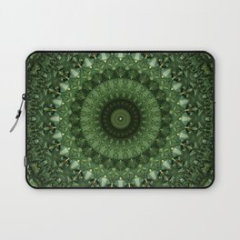 Mandala in olive green tones Laptop Sleeve