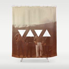 Smoking Mountains 1983 Shower Curtain
