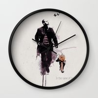 u2 Wall Clocks featuring Robert Neville by  Maʁϟ
