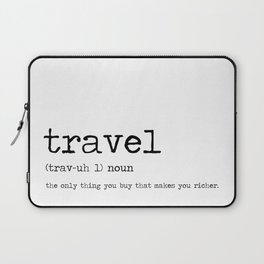 Travel by definition Laptop Sleeve