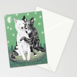 Hugging dogs Stationery Cards