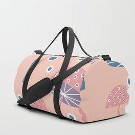 Dancing mushrooms in pink Duffle Bag