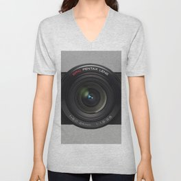 VINTAGE CAMERA lens Unisex V-Neck