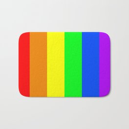 Rainbow flag - Vertical Stripes version Bath Mat