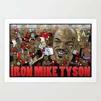 mike tyson Art Prints featuring Mike Tyson by Adam Doyle