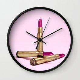 LIPSTICK BULLET Wall Clock