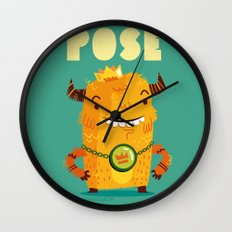 :::Pose Monster::: Wall Clock