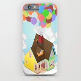 Carl's House (Up) Isometric Poster iPhone Case