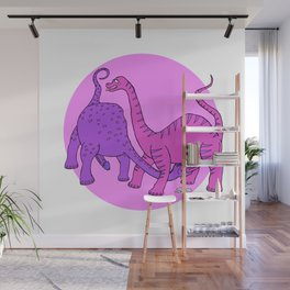 Before Time Began I (pink) Wall Mural