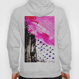 Funky abstract pink Hoody
