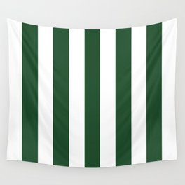 Cal Poly Pomona green - solid color - white vertical lines pattern Wall Tapestry
