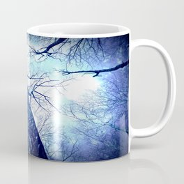 Winter's Coming : Wintry Trees Galaxy Skies Coffee Mug
