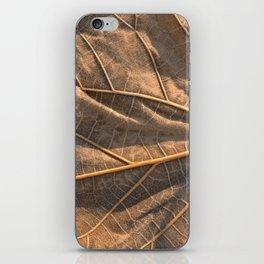 Gold Weathered Leaf iPhone Skin