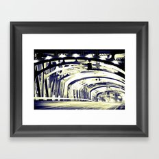 Through The Golden Bridge Framed Art Print