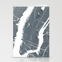 new york map Stationery Cards featuring New York City map by Studio Tesouro