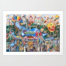 Love Rollercoaster Art Print