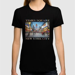 Times Square Sparkle (with typography) T-shirt