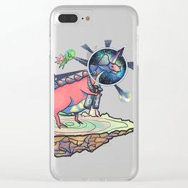 Uni - Dinosaur to Space Clear iPhone Case