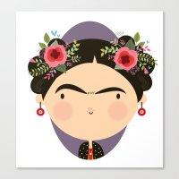 frida Canvas Prints featuring Frida by Maria Jose Da Luz